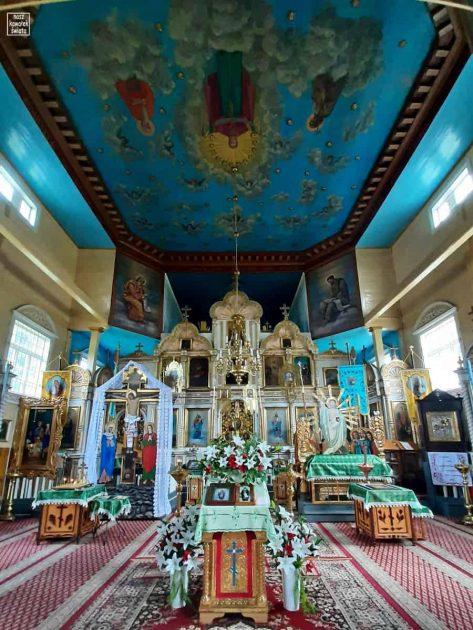 Wnętrze cerkwi w Trześciance