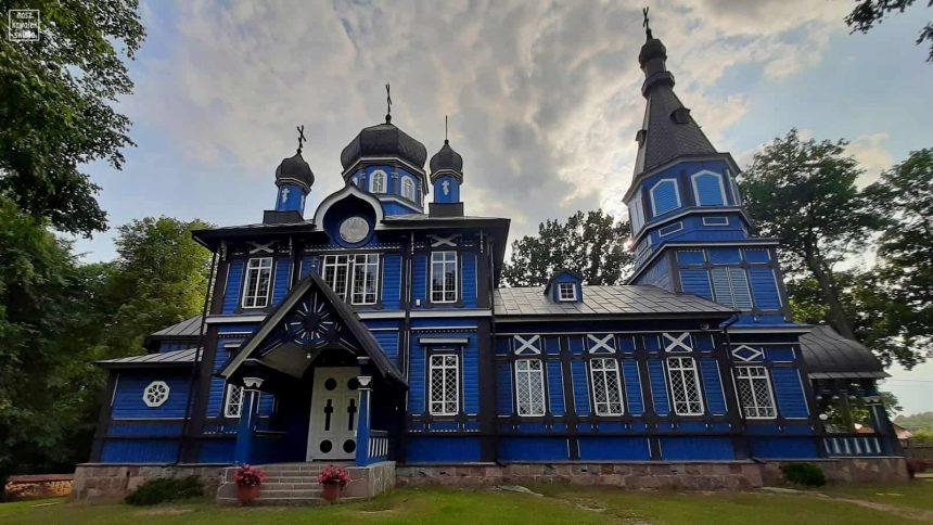 Niebieska cerkiew w Puchłach
